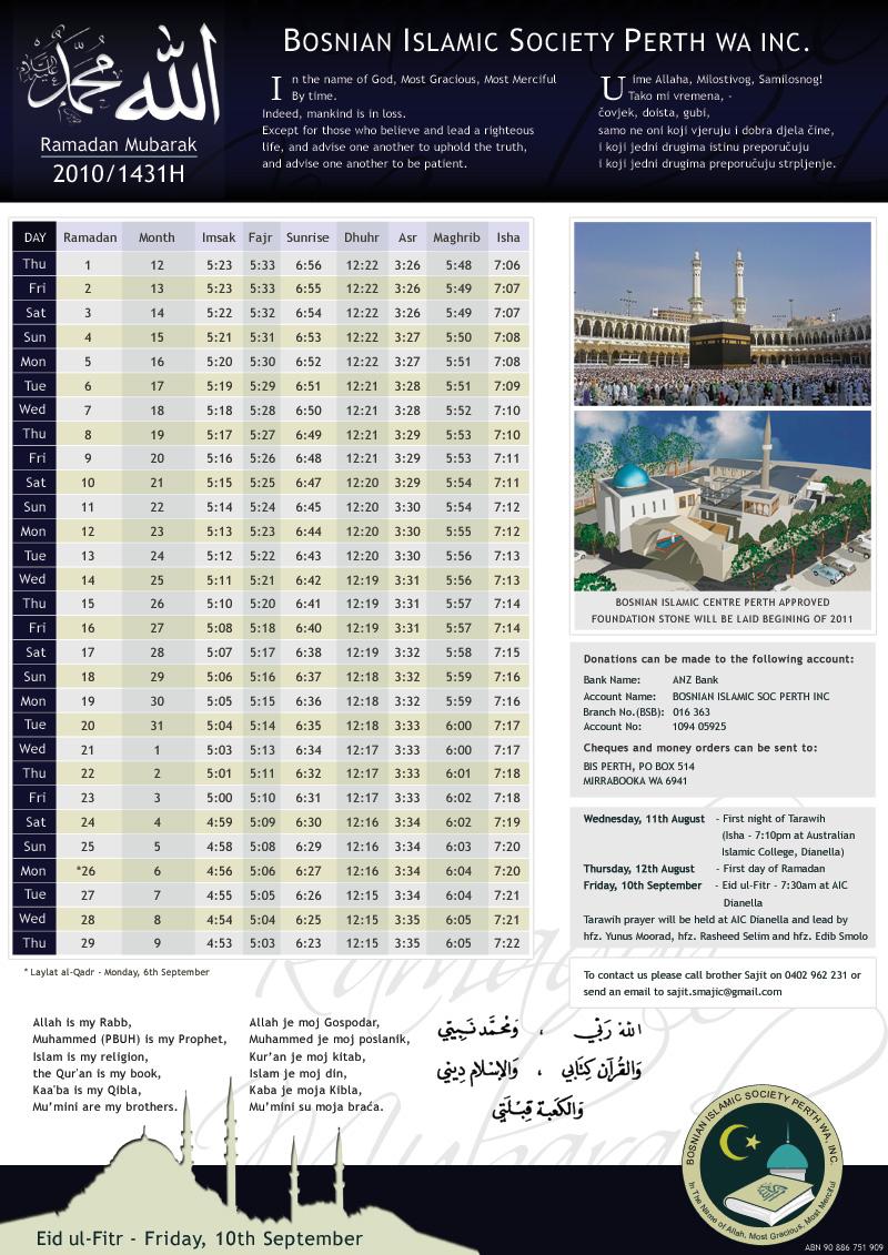 Ramadan 1431H