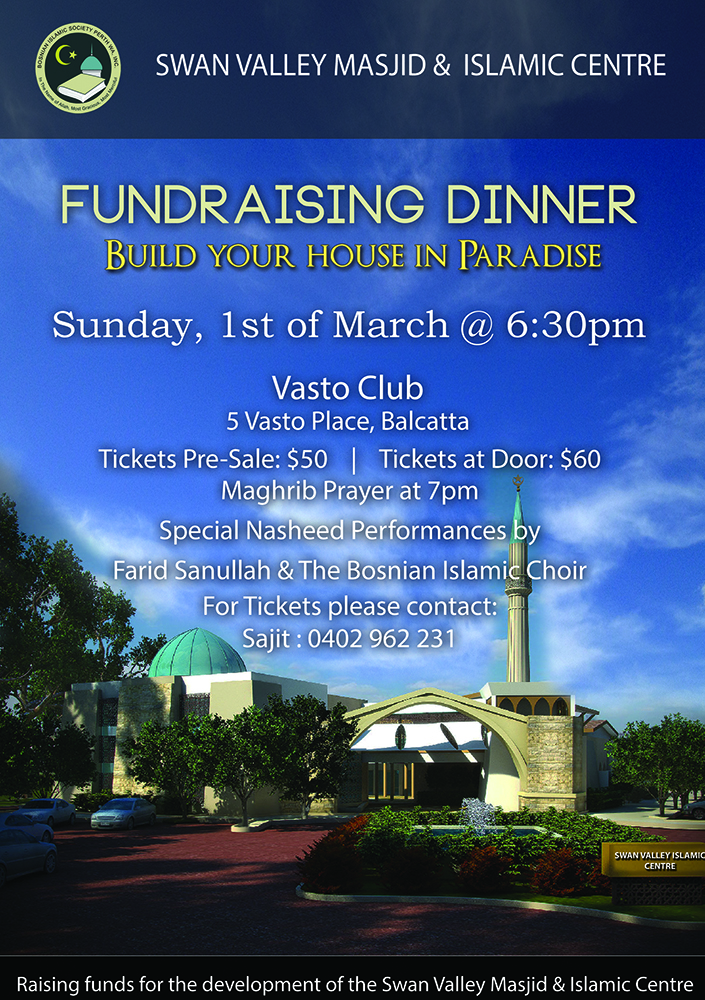 Fundraising Dinner – 1st of March
